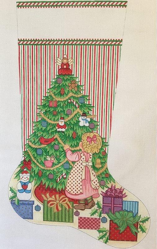 Girl Decorating Tree Stocking - 13M