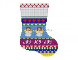 Bold Stripe Angel Mini Stocking #13