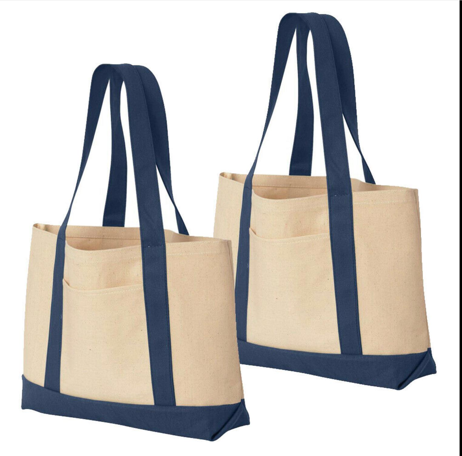 Blue/White Canvas Bag