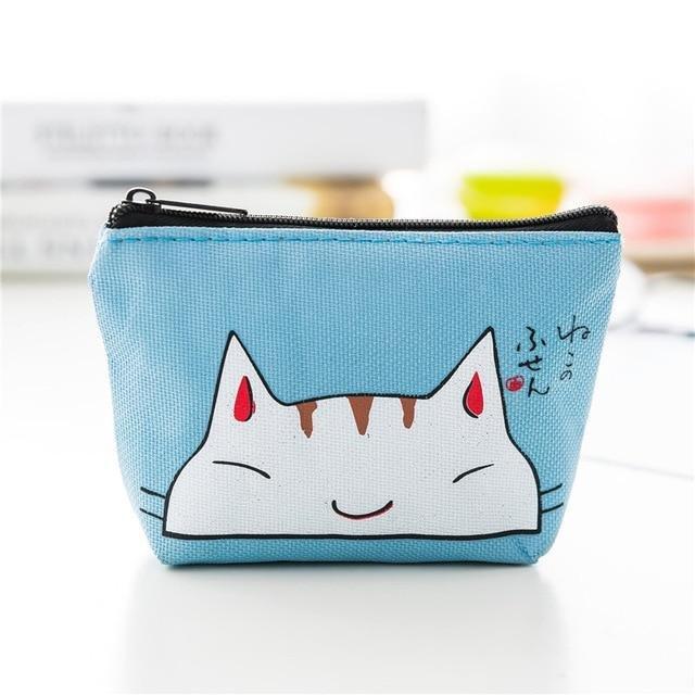 Anime Cat Face Zipper Pouch