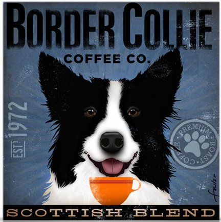 Coffee Co Border Collie