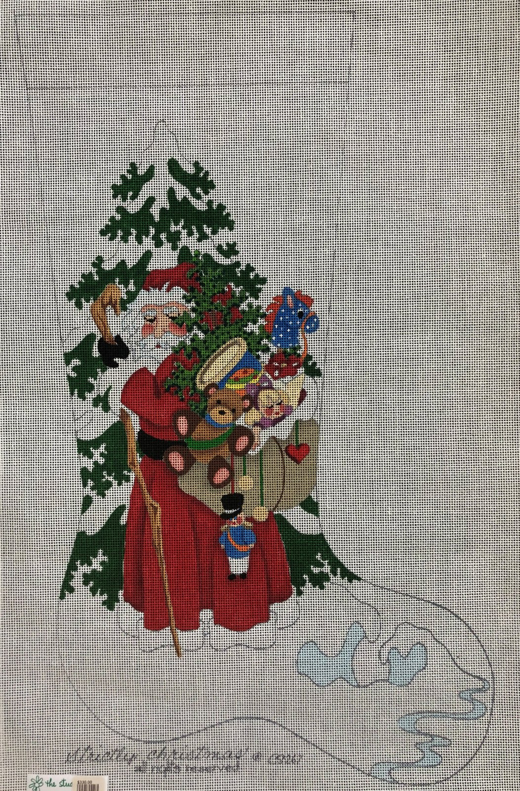 Santa with sack of toys Stocking #13