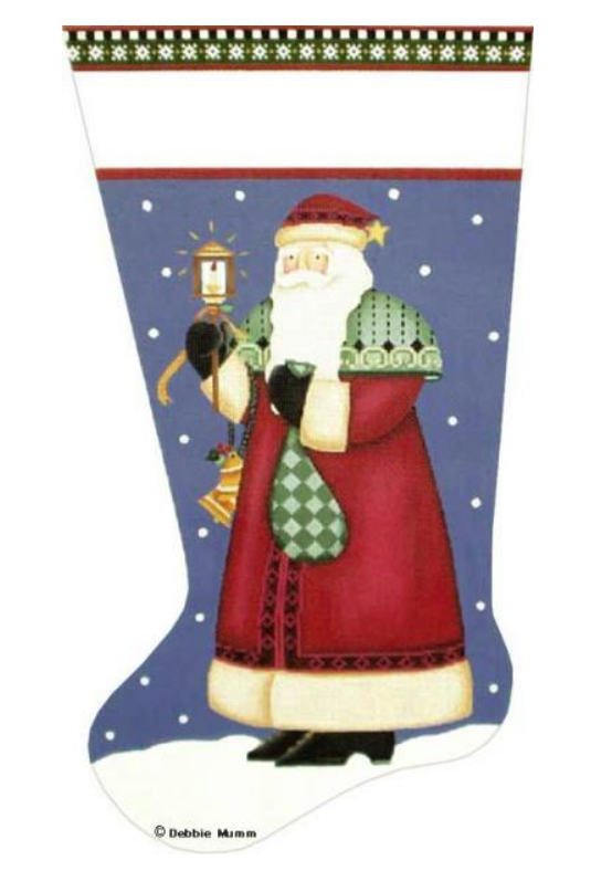 Lantern Santa Stocking