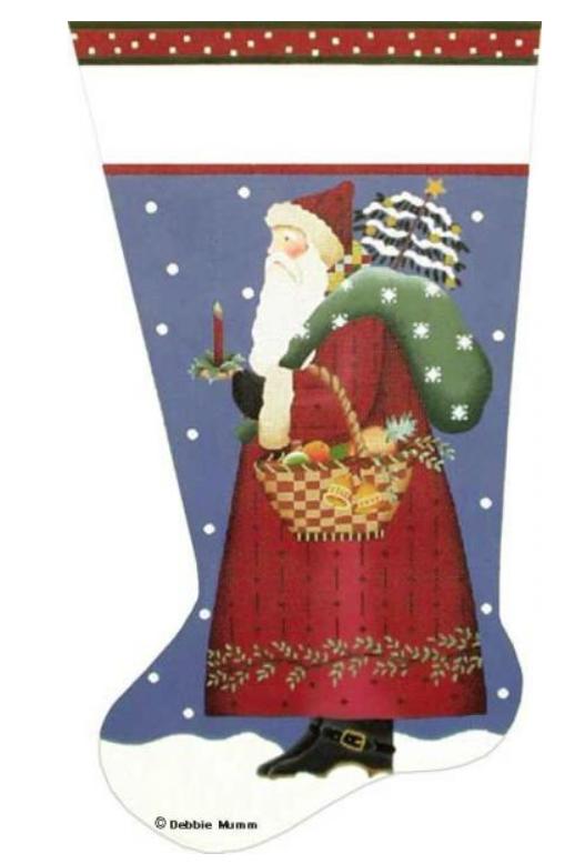 Basket Santa Stocking