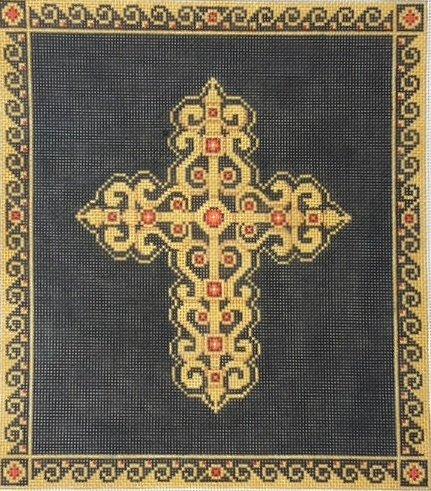 Gold Cross on Black - 18M