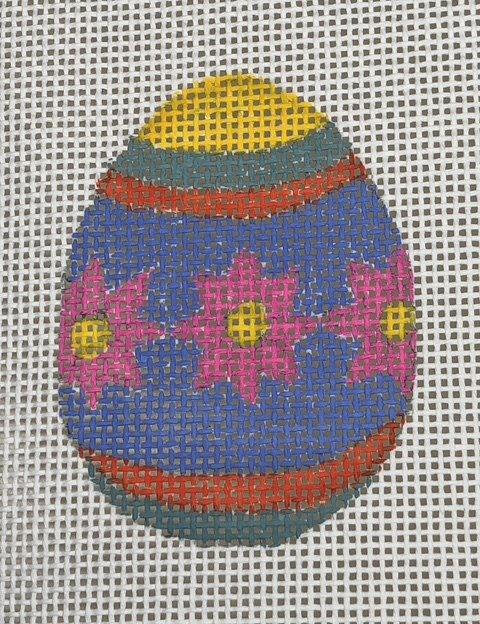 Easter Egg - Pink Flowers on Purple - 13M