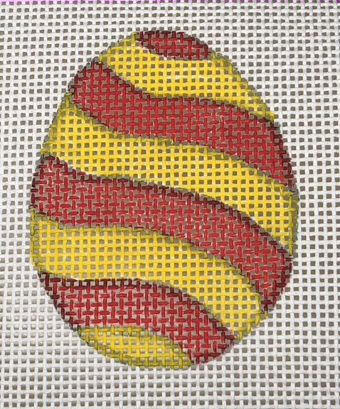 Easter Egg - Red & Yellow Stripes - 13M
