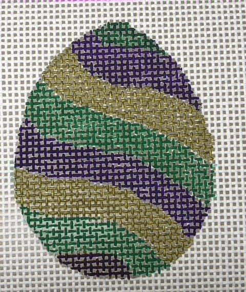 Easter Egg -Mardi Gras Stripes - 13M