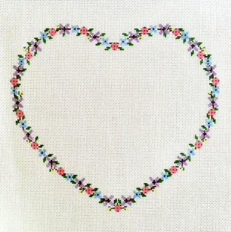 Floral Heart Wedding Pillow -18M