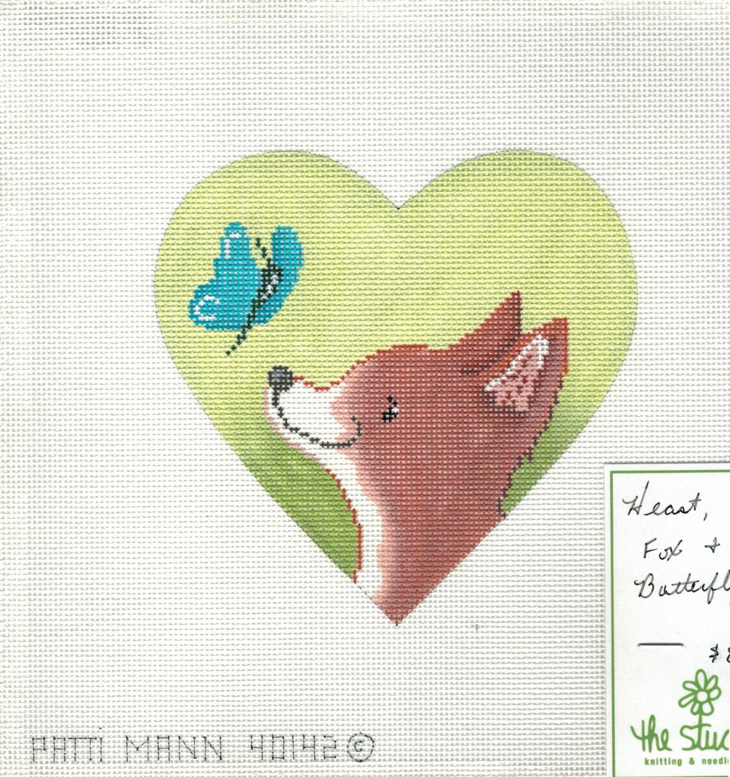 Heart, fox & butterfly