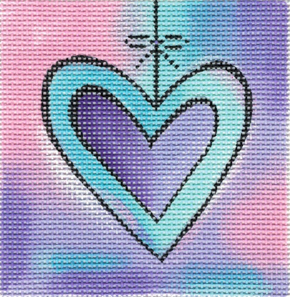 Hanging Heart - blue/purple - 18M
