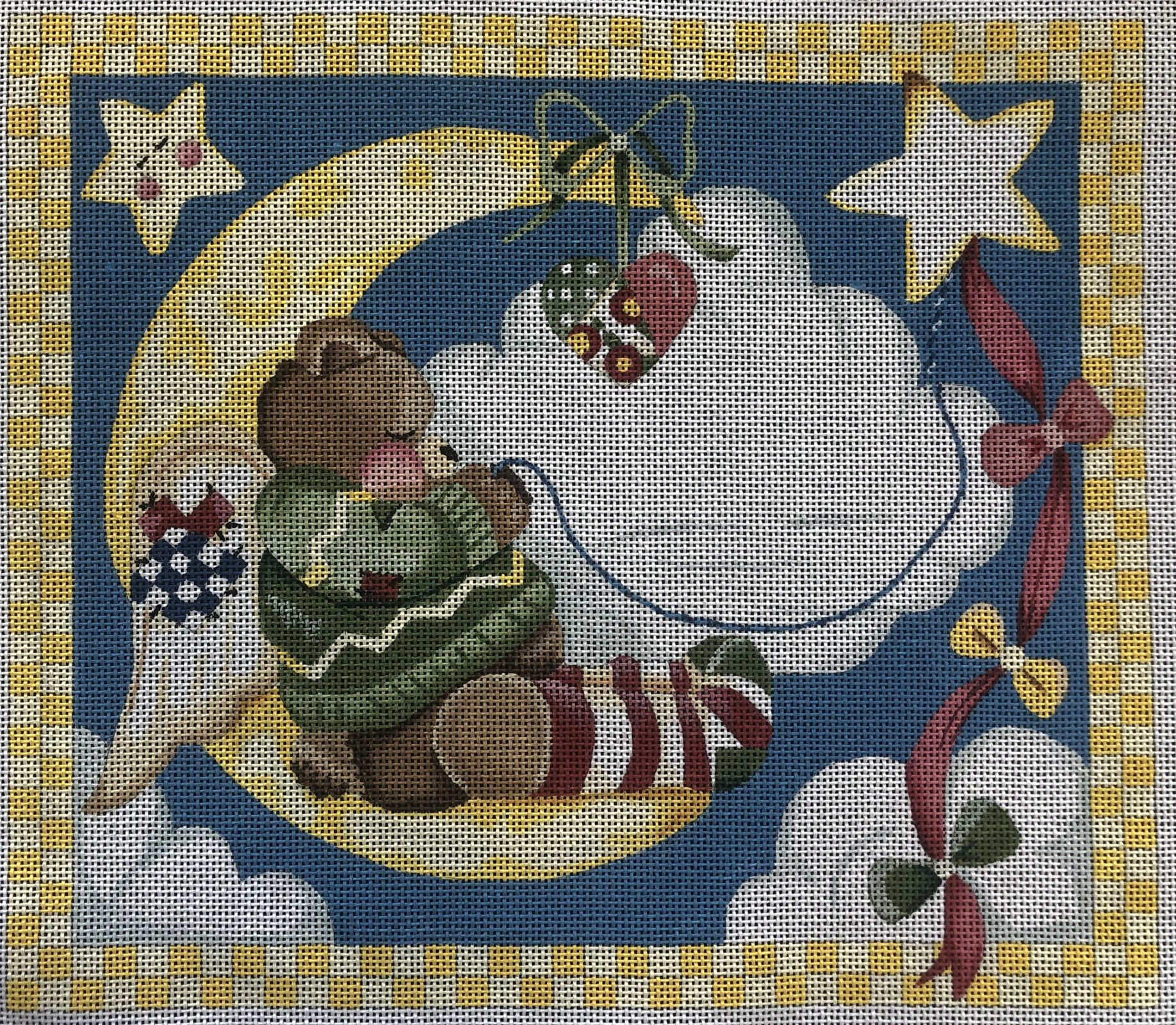Teddy Bear Angle Birth Sampler - 13M