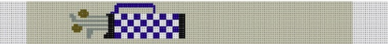 KF-520B Blue Plaid Golf Bag Loop Key Fob