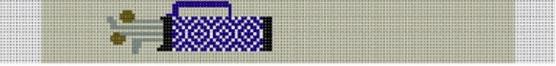 KF-520D Blue Geometric Golf Bag Loop Key Fob