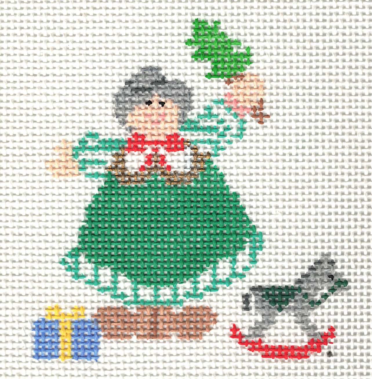 Mrs. Claus with toys - 13M
