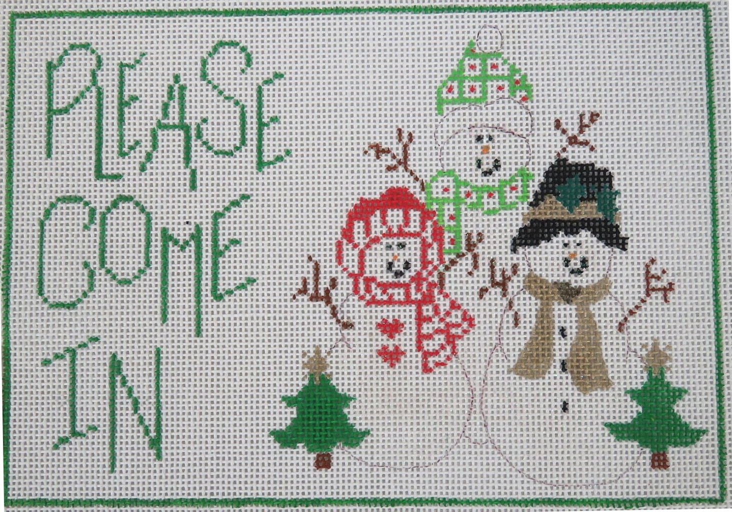 Please Come In  Sign with Snowmen - 18M