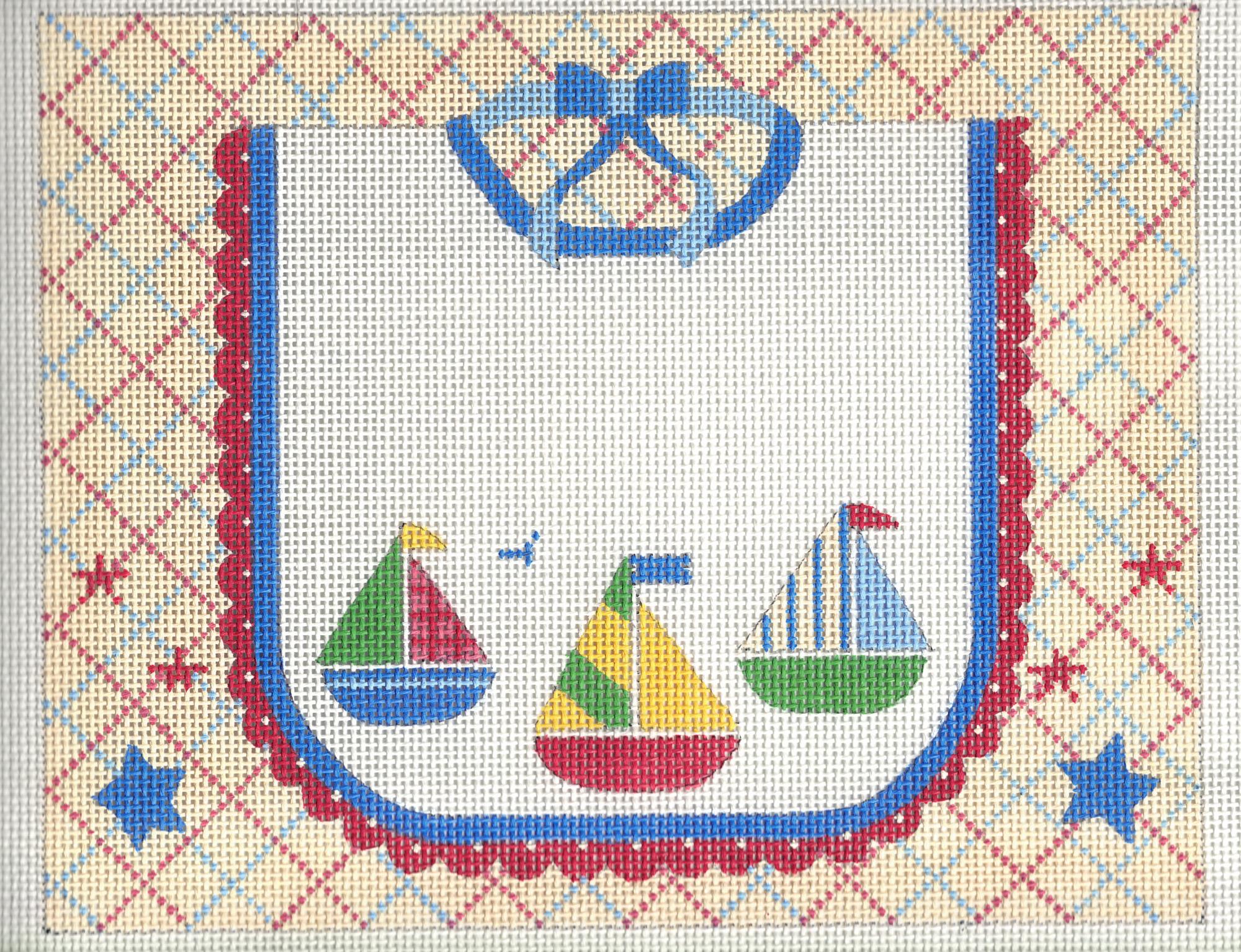 Sailboat Bib Birth Announcement - 13M
