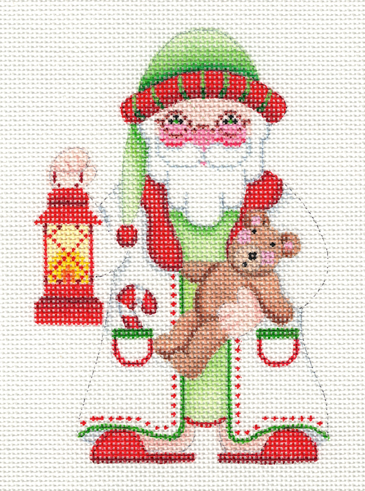 Santa with Teddy Bear & Lantern - 18M