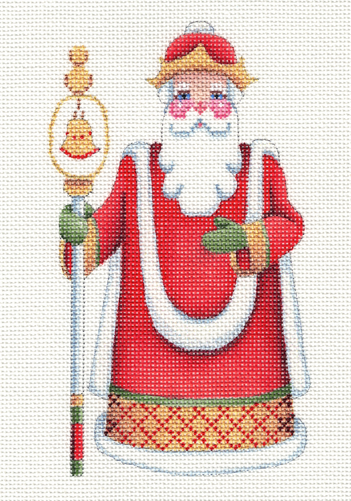 Santa with Bell Staff - 18M