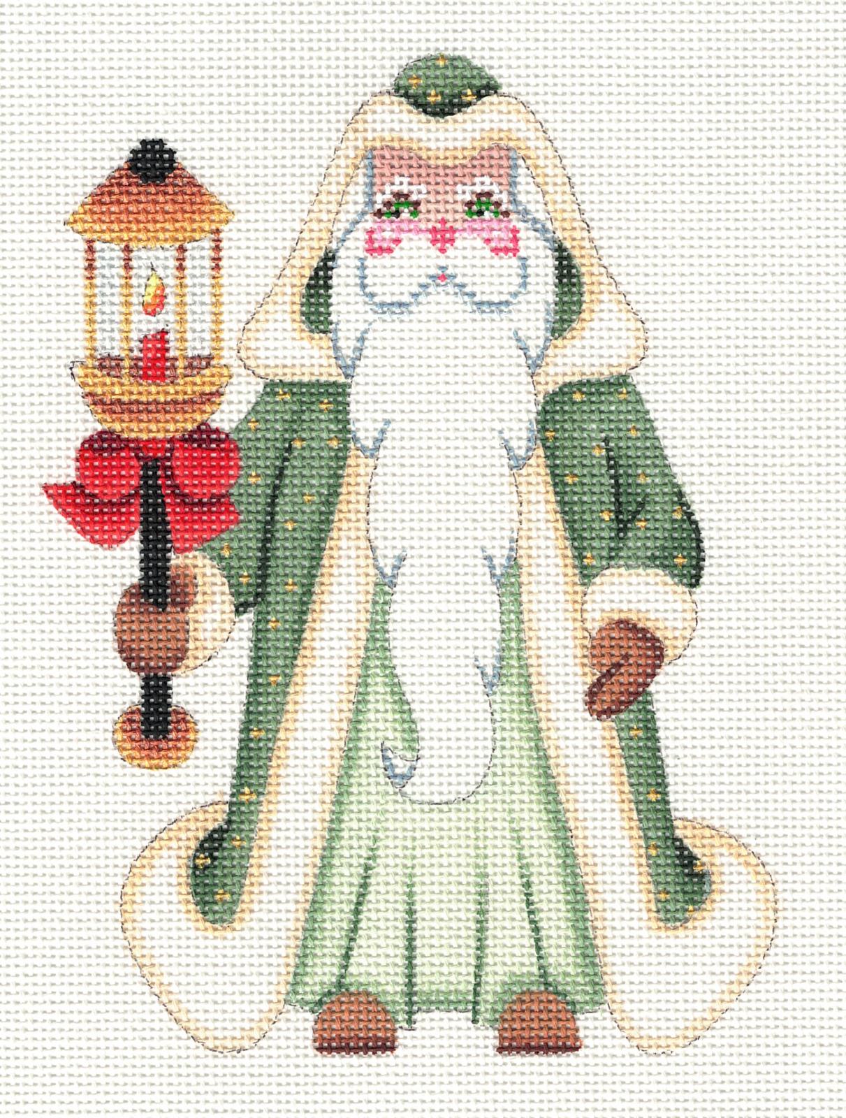 Green Santa with Lantern - 18M