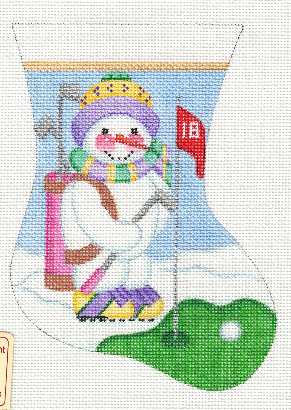 Golf Snowman Mini Stocking - 18M