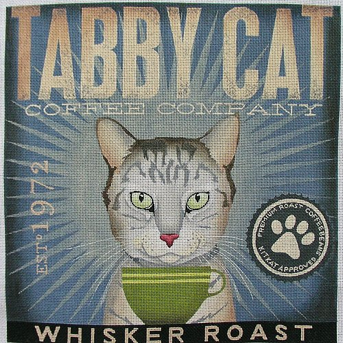 Coffee Co Tabby Cat