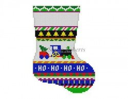 Bold Stripe Train Mini Stocking #13