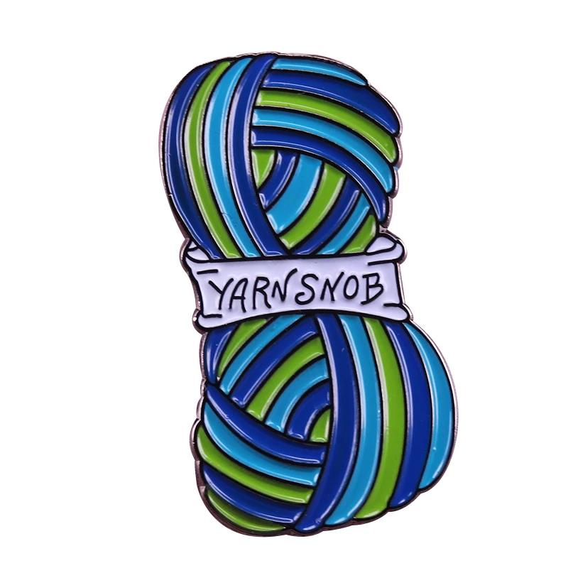 Yarn Snob Pin