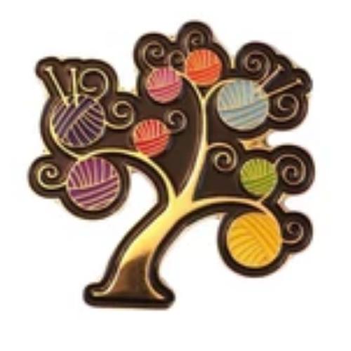 Yarn Tree of Life Pin