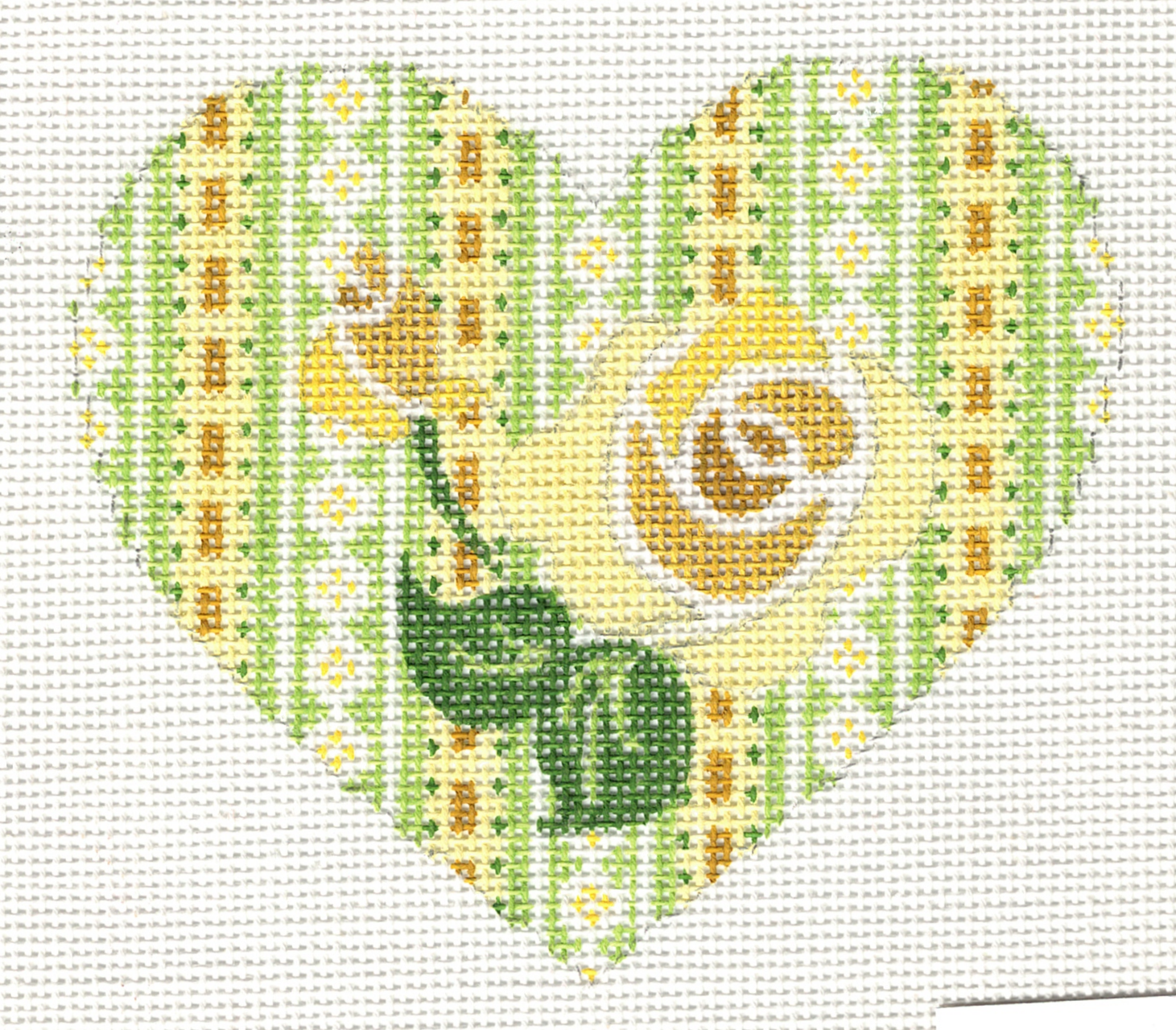 Yellow Roses Heart