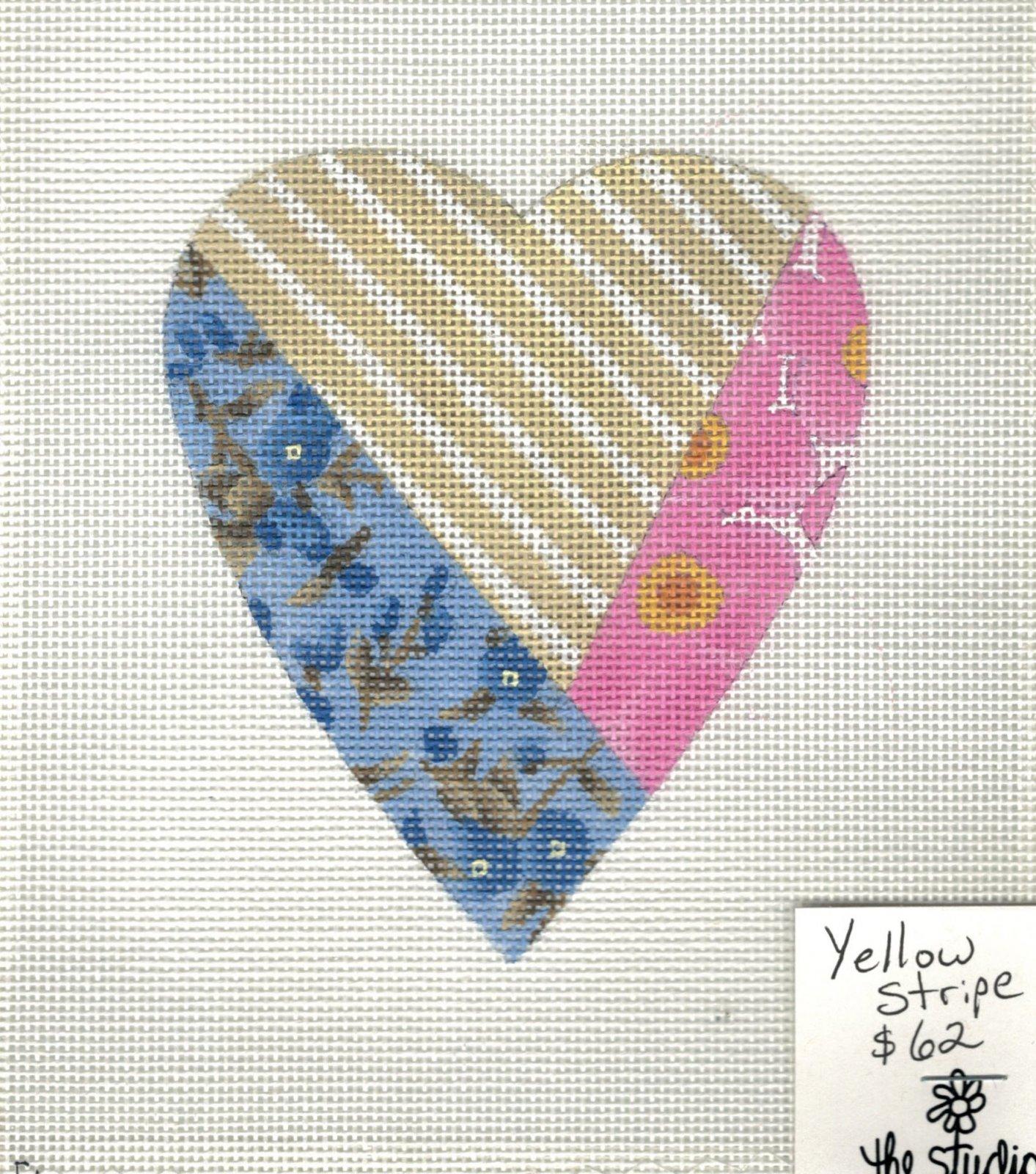 Yellow Stripe Heart - 18M