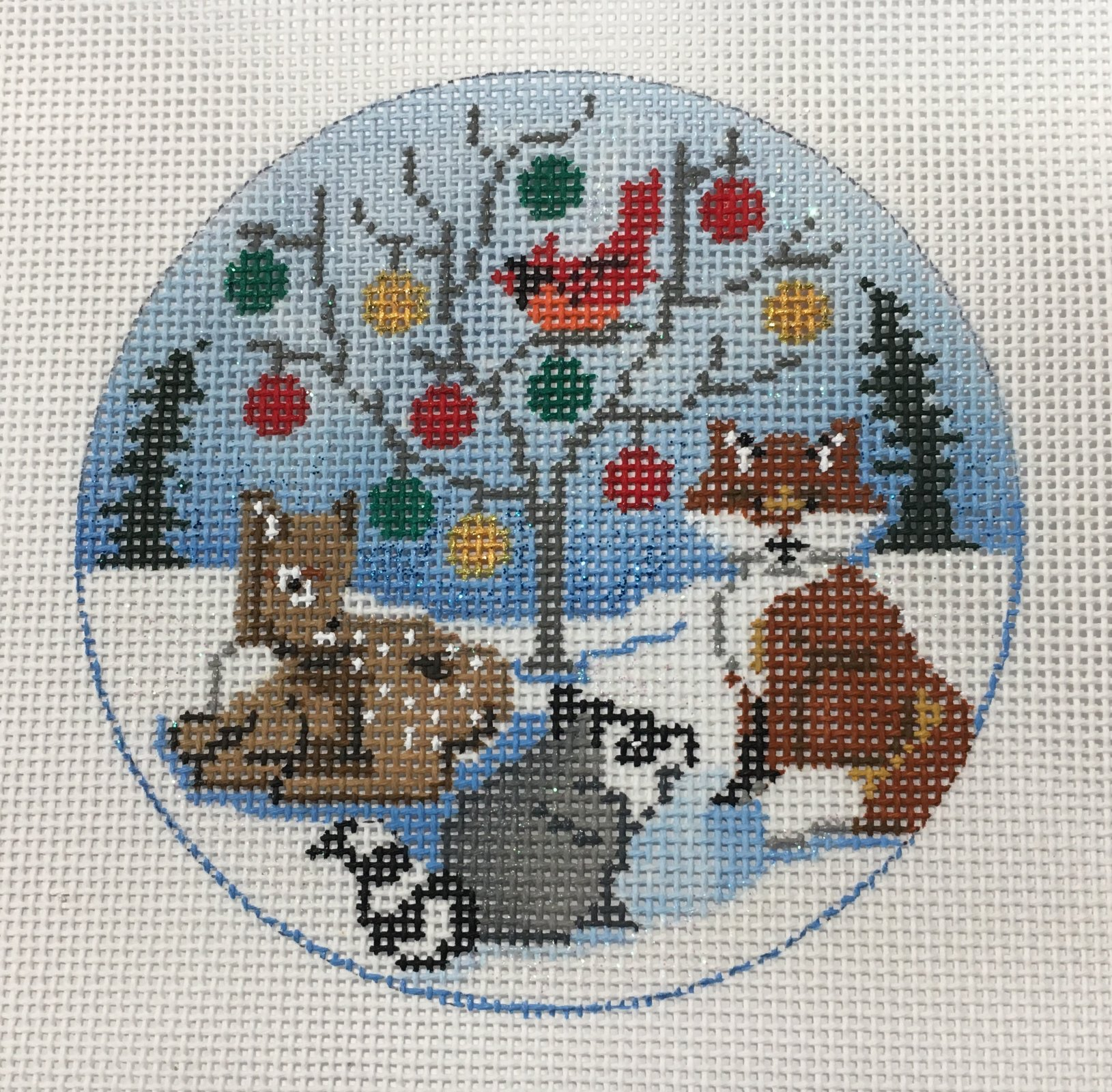 Christmas Tree and Animals Ornament