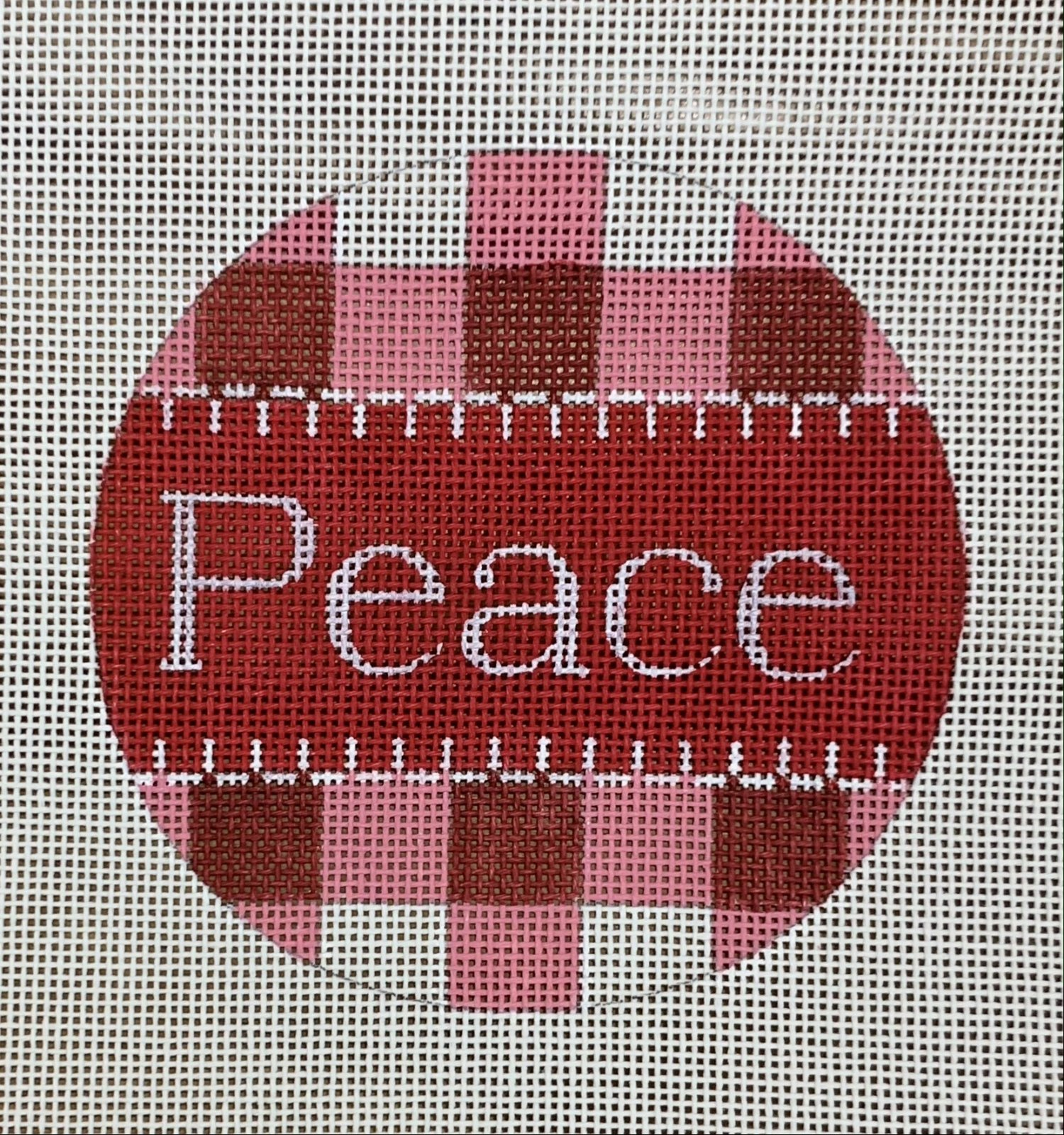 Peace - Red Gingham