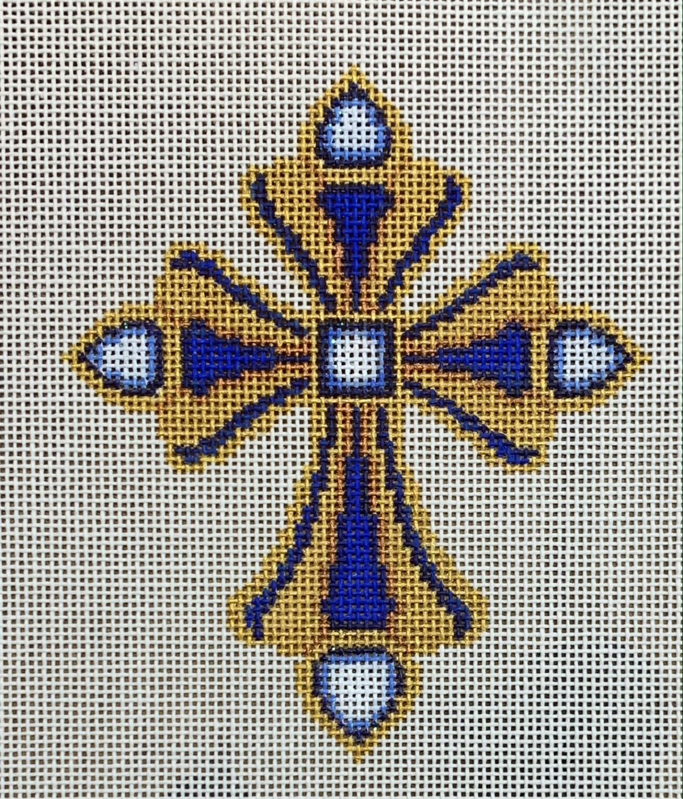 Cross - Gold & Royal Blue