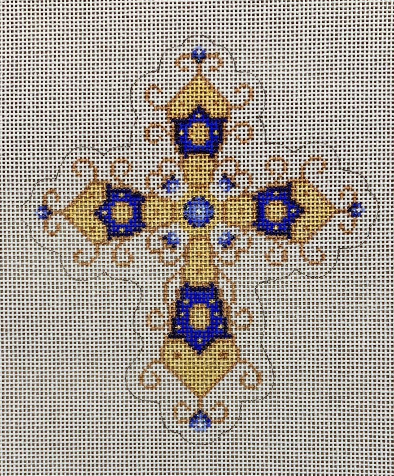 Cross - Blue & Gold