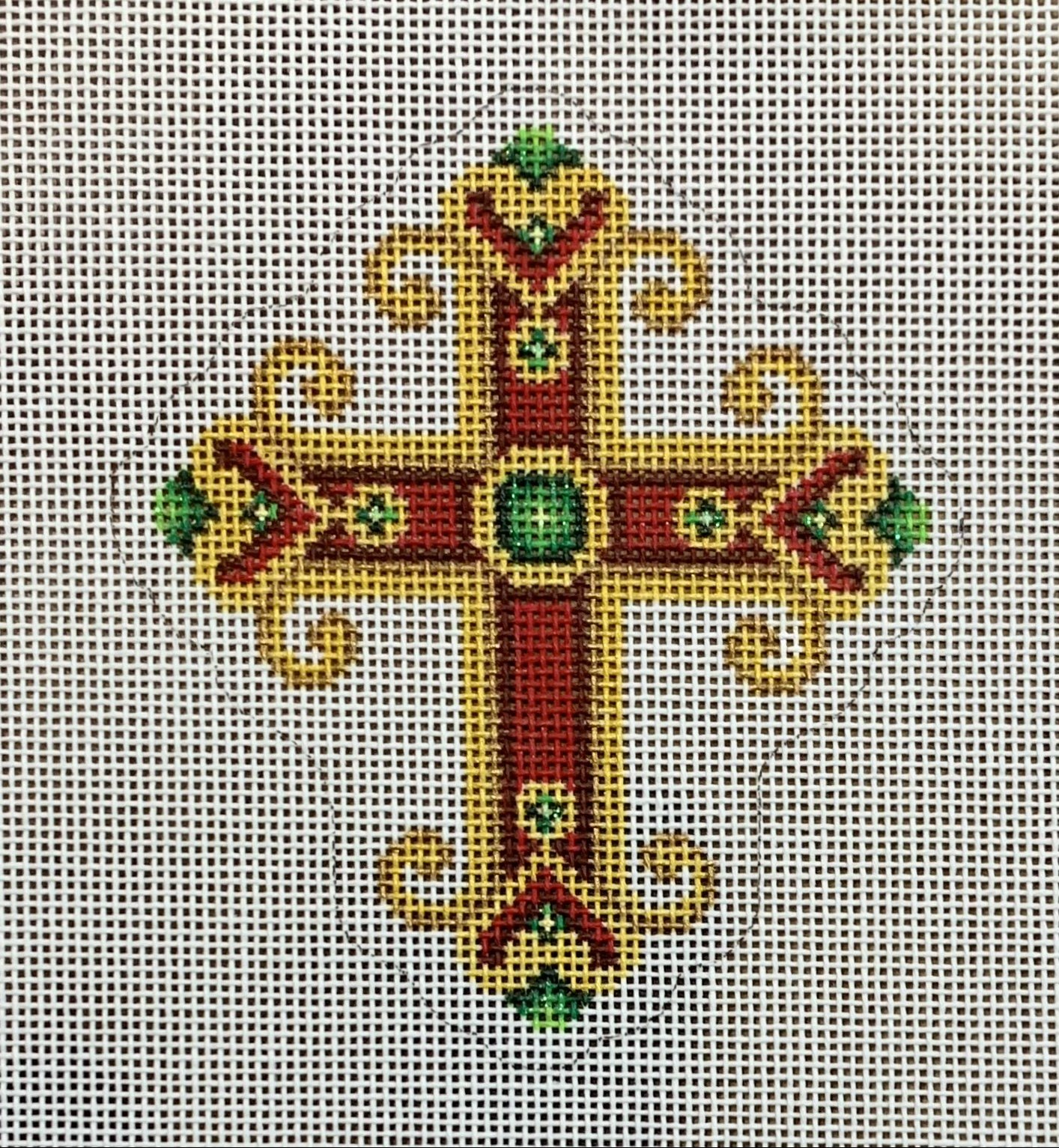 Cross - Red & Gold