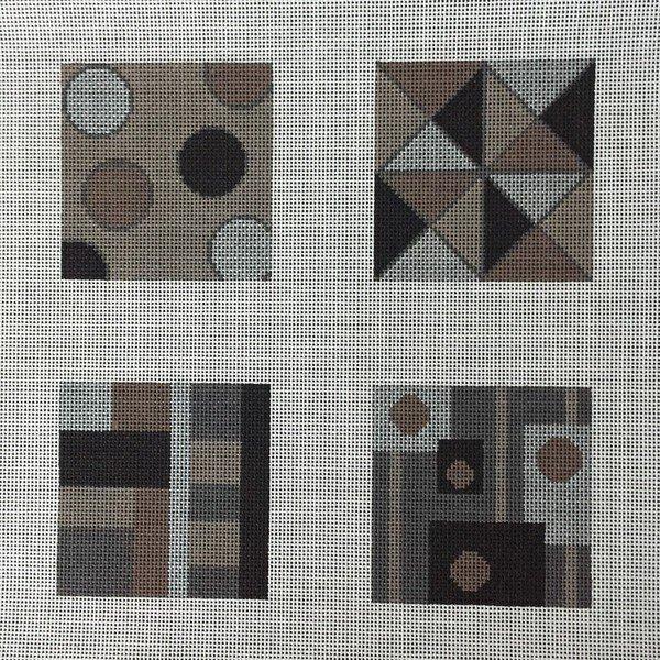 Geometric Coasters Browns/Blacks