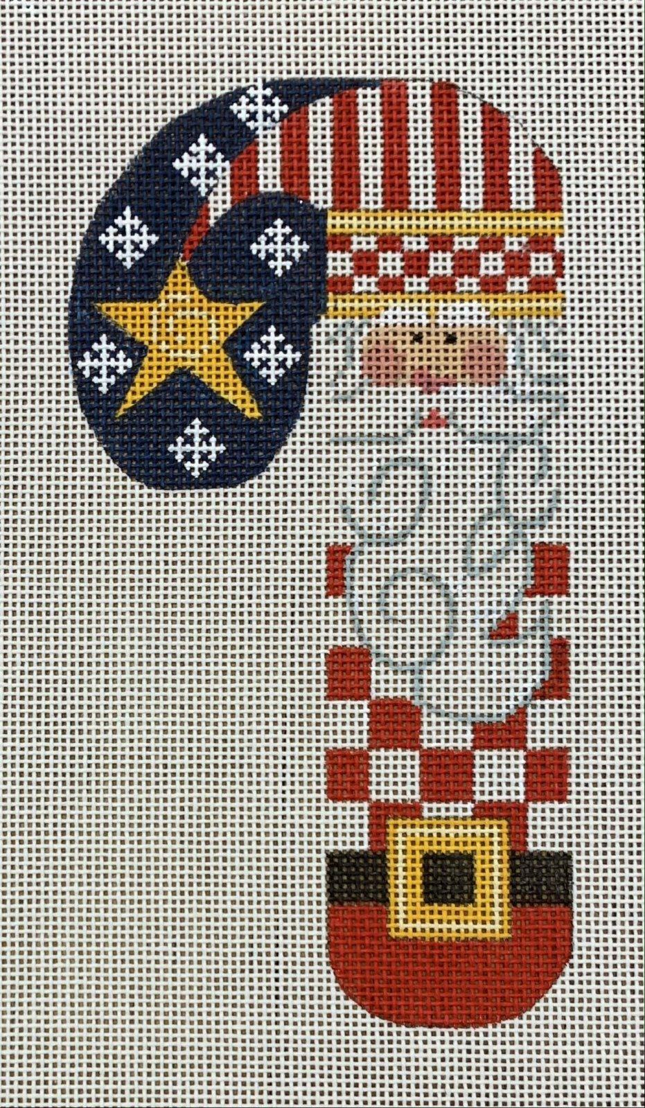 Patriotic Santa Candy Cane