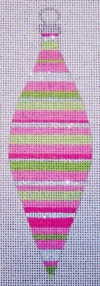 Pink Stripes Teardrop