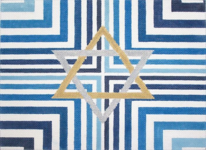 Blue Stripe Star Tallis