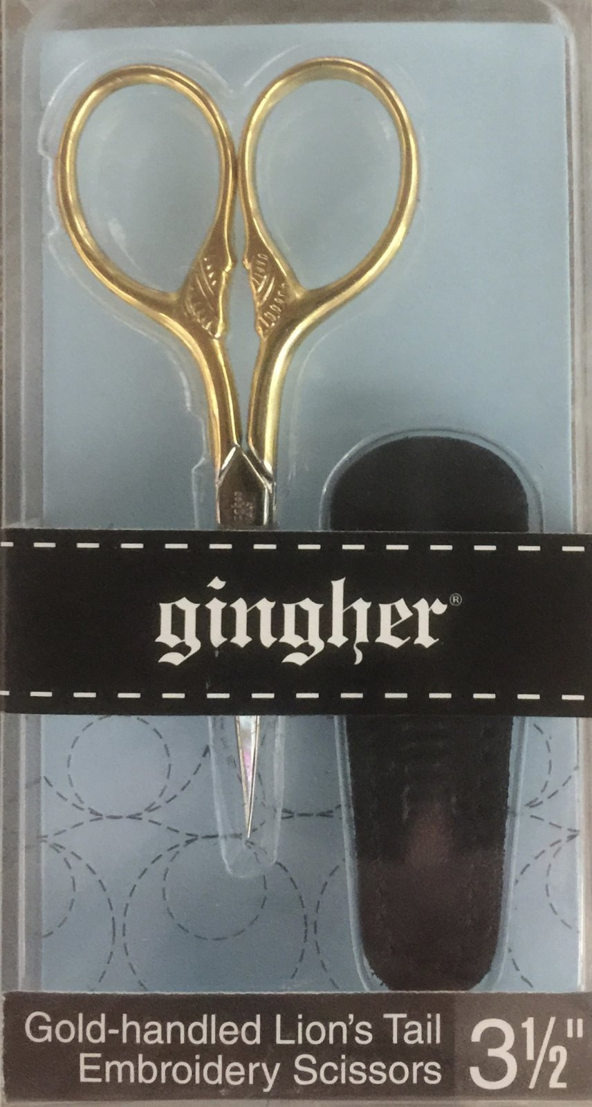 Gingher 3.5 Lion's Tail Embroidery Scissors