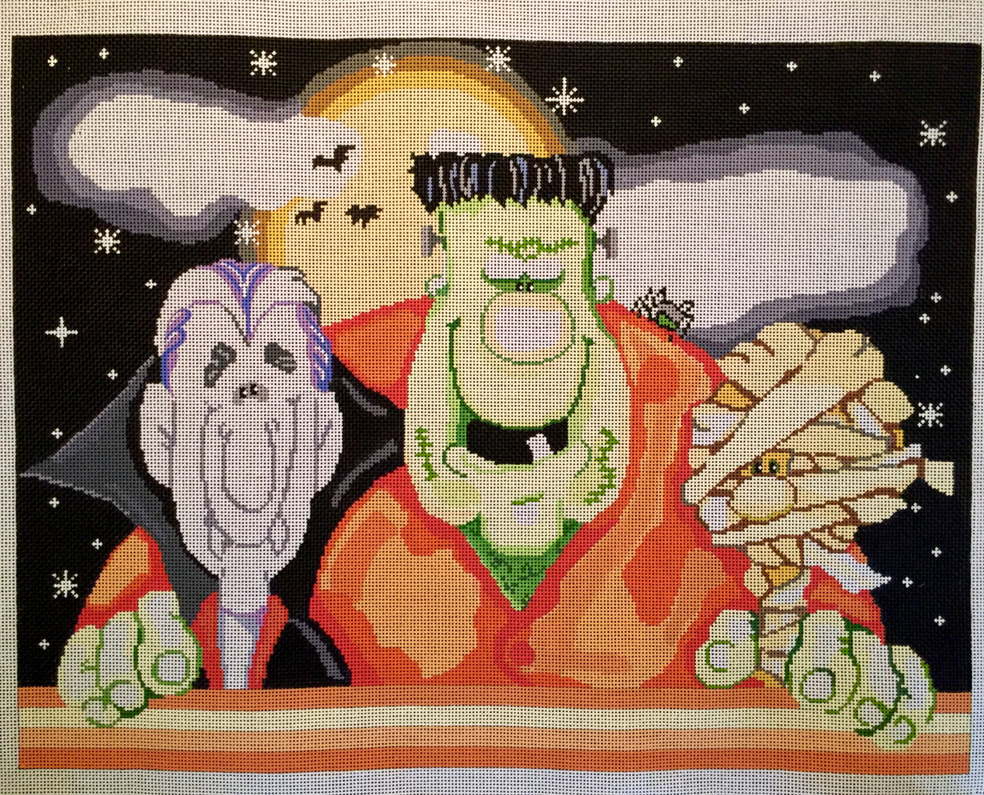 Dracula, Frankenstein, Mummy