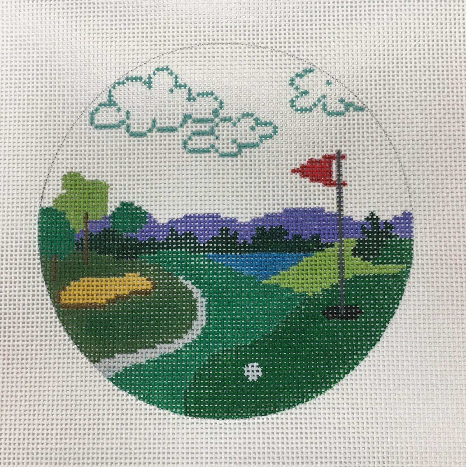 Round Golf Scene