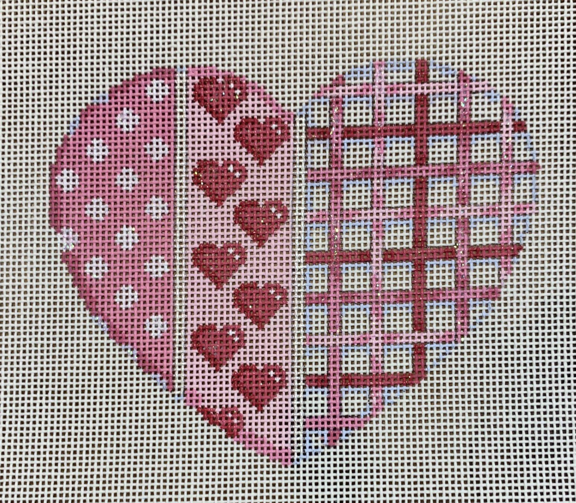 Dot/Heart/Woven Lg. Heart