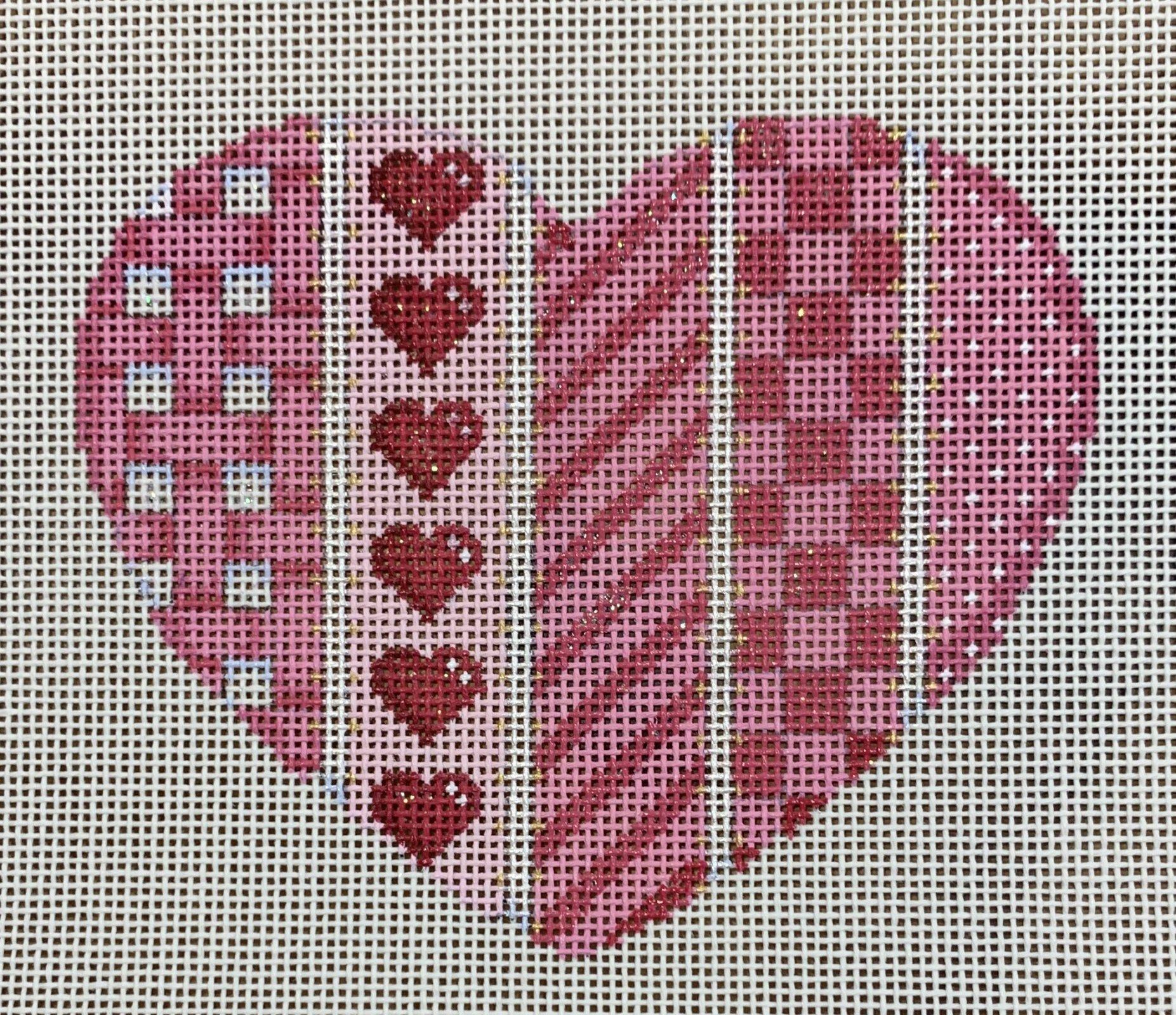 Woven/Hearts/Diag/Checks Lg. Heart