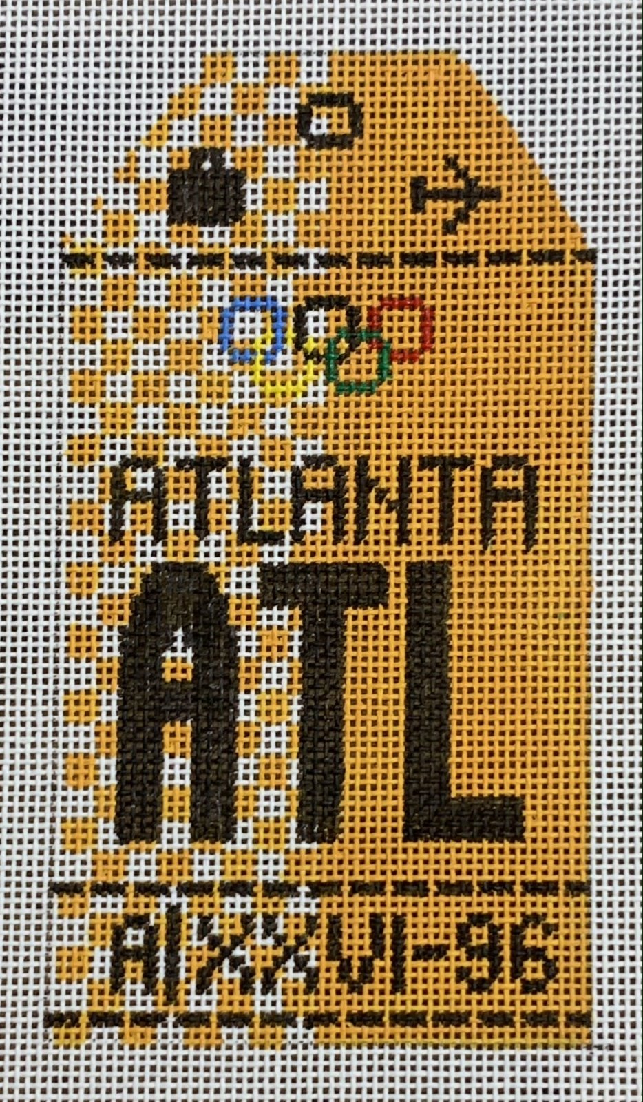 Vintage Luggage Tag - Atlanta