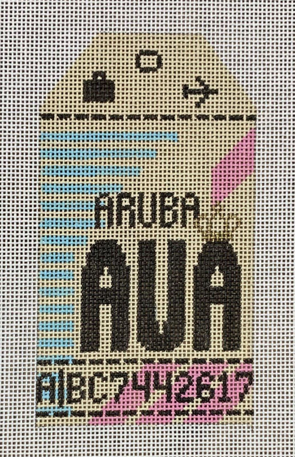 Vintage Luggage Tag - Aruba