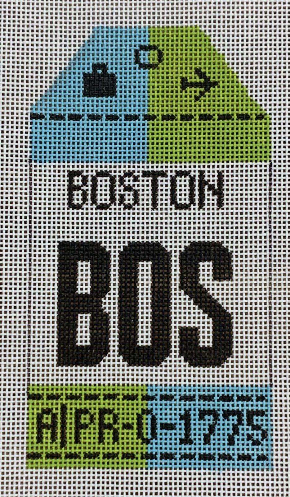Vintage Luggage Tag - Boston