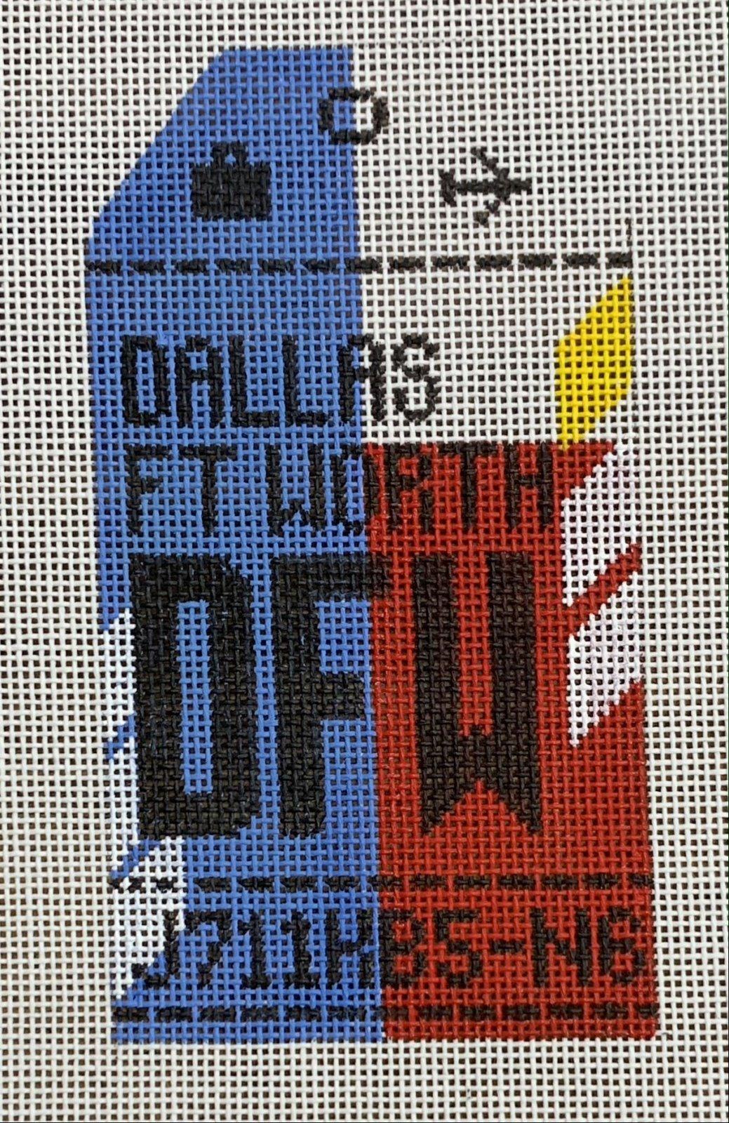 Vintage Luggage Tag - Dallas-Fort Worth