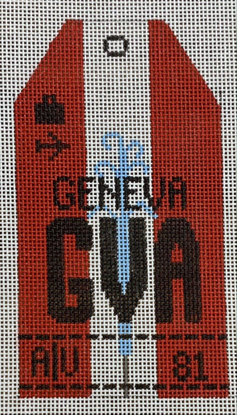 Vintage Luggage Tag - Geneva